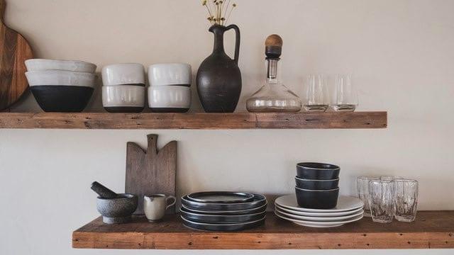 Kitchen Shelving Ideas - Wooden Shelves