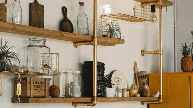 Kitchen Shelving Ideas - Industrial Look