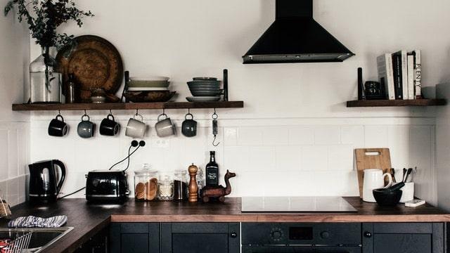 Kitchen Shelving Ideas - Black Shelves